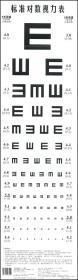 标准对数视力表 对数视力表挂图标准儿童家用幼儿园卡通E字视力表 成人测近视眼睛视力表 化学工业出版社 正版