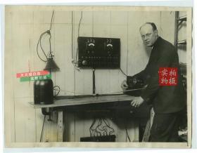 1925年地磁感应罗盘的发明者莫里斯·蒂特林顿Morris Titterington老照片,这项发明让夜里航空飞行的人能够安全地导航回家