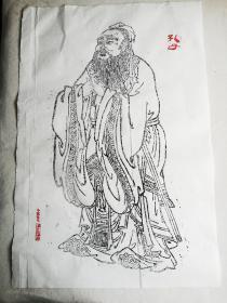 全国首创的石版年画墨线版图(纯手工作品)