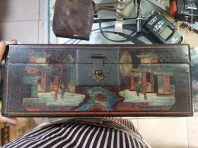 人物漆器,画工不错,年代明清,保真包老,售出不退。