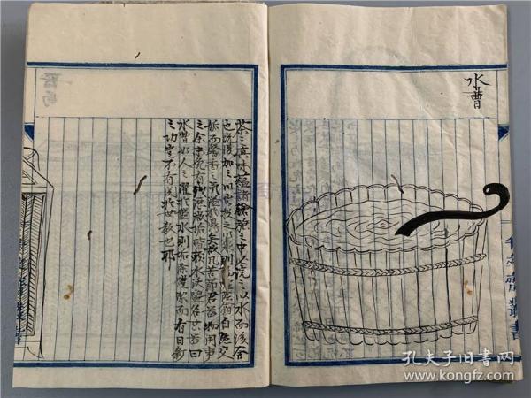 蓬屋主人抄本《茶经》1册全,目录有《茶经》上中下卷、《茶录》、《试茶录》、《茶谱》等。小开本,抄者跋云据女人水野生藏书抄校句读,未明原藏书版本,有茶具插图。