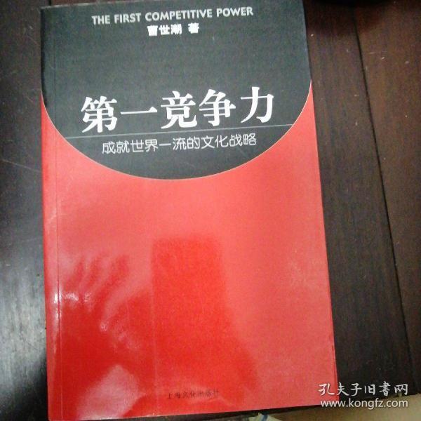 第一竞争力--成就世界一流的文化战略
