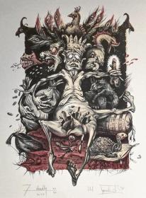 乌克兰 尤利娅娜Ulyana Turchenko石版套色藏书票 9原作版画 收藏