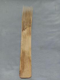 (箱13)民国左右  骨制 工具,制作毛笔笔头用梳毛用工具,25*3.5cm