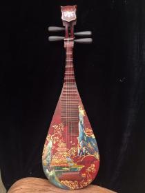 舊藏漆器琵琶一把 尺寸90x29x10厘米,依然可以正常彈奏,品佳,1200出,全國包郵。
