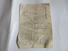 南京市公共交通路线示意图(带语录)