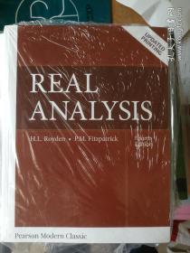 Real Analysis   (Classic Version )实分析  英文原版 Halsey Royden  罗伊登 英文版第4版