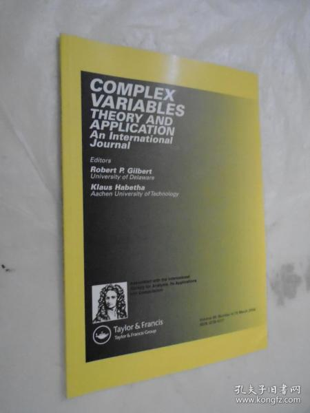 Complex Variables Theory and Application: An International Journa 2004骞� 49�� 15�� �辨������