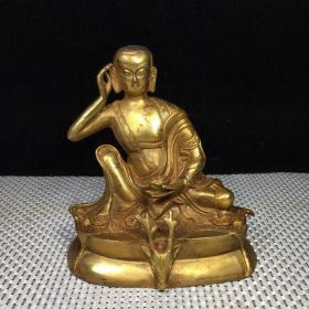 纯铜鎏金佛像