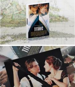 【盒装30张大全】《泰坦尼克号(高清电影摄影)》明信片全新 套装30张新品收藏