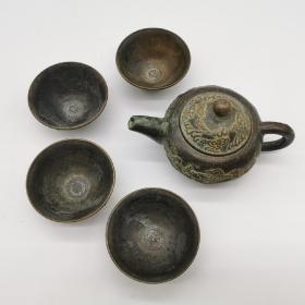 龙壶福禄寿喜杯 茶具一套