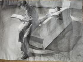 中央美术学院教授著名画家王少伦素描作品