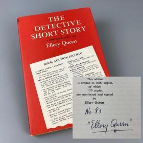 【稀缺签名本】 奎因《短篇侦探小说:参考书目》限量编号仅150册 埃勒里·奎因亲笔签名本The Detective Short Story: A Bibliography  1969年英文原版布面精装 品佳 干净齐整【国内现货】【品佳难得】