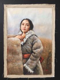 人物,纯手绘油画,100cm*68cm