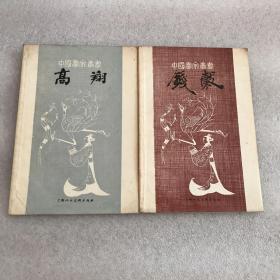 中国画家丛书高翔,钱穀  两本