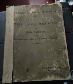 民国德文原版书《Deskriptive Anatomie》这本是描述解剖学的书