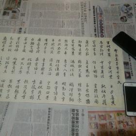 周卓人书法长卷一幅  尺幅 293厘米×34厘米