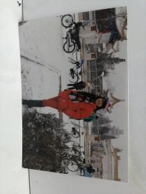 幸福摩托车,女性,银川宁园1989年下雪天照片