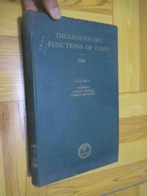 THERWODYNAMIC FUNCTIONS OF GASES:Volume 1  (16开,精装)