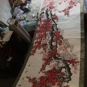 中国书画家协会理事 长安书画院院长 田成喜 巨幅梅花图 保真