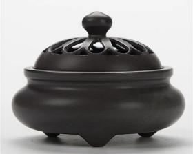 大型瓷器瓷器香炉摆件直径12厘米