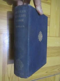 A Dictionary of Modern English Usage  (1927年)  32开,精装1927