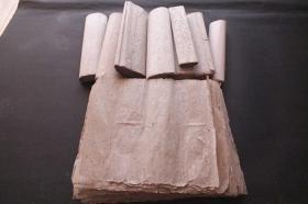 日本大正~昭和 手漉和纸褚纸 老宣纸  宽35cm  N660