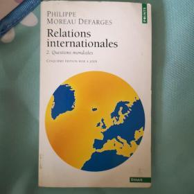 ReIations internationaIes  2.  Questions mondidIes