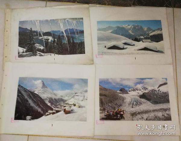 70年代電影風景宣傳畫(30張)上面有山東省京劇團《奇襲白虎團》劇組資料印尺寸52公分×39公分(12)