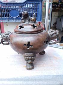香炉一个,做工一般,个头不算小,年代未知,价格不高,售出不退。
