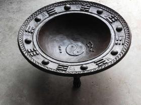 清代大尺寸 铸铁  算卦先生专用  八卦火盆  全品包老 重90斤左右