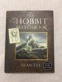 独家霍比特人哈比人素描集艾伦李限量签名版the hobbit sketchbook signed