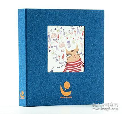 法文书 猫猫游巴黎 法文原版 Chacha a Paris 法国手工艺术绘本 礼品收藏 小资文青