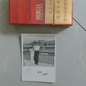 老照片,天津留影