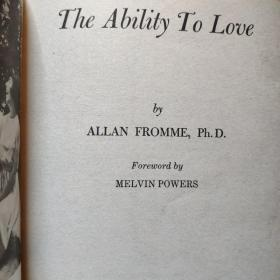 《The Ability to Love》by Dr. Allan Fromme