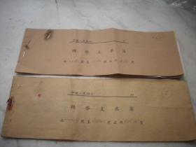 1956年-57年【中国人民银行转账支票薄】2本!内有转账支票使用须知,支票2张,支票存根22张!