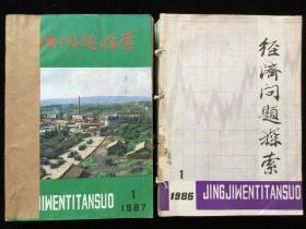 《经济问题探索》月刊,1986年1-12期,1987年1-12期,计24期合订本两册合售