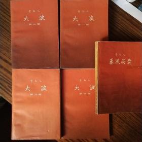 大波+暴风雨前(第1-5部,全5册) 人民文学出版社