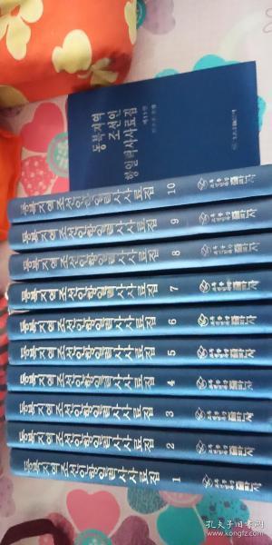 东北地区朝鲜人抗日历史史料集   第一卷---第十一卷 全 11册 全 合售【朝鲜语.布面精装 16开 印数1000册】近全新