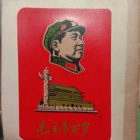 毛主席像12.3cmⅹ8.6cm,如图(红塑料)