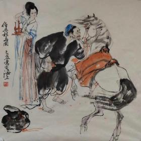 【施大畏】精品人物画《伯乐相马图》一幅,四尺斗方,68厘米//68厘米,喜欢的私聊