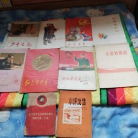 少年文艺(1965年9) 毛主席和孩子们  辽宁青年(1973年13)万岁毛主席(革命歌曲集) 党的生活(1961年6) 红色宣传员(2)  解放军歌曲(1977年1) 小将的挑战   无限忠于毛主席革命路线的好干部一门合   小评论选