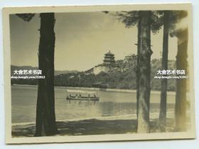 民国如画的北京,颐和园昆明湖游船,7.8X5.6厘米,泛银