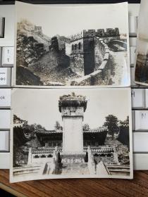 早期北京长城 天坛  万寿山昆明湖 故宫博物院 等风景黑白老照片6张