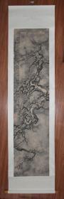 清代名家 杨仲馨《雪梅图》纸本立轴  大尺寸