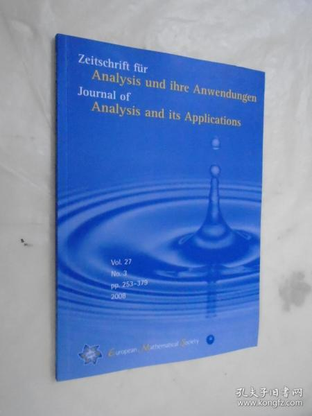 Journal of Analysis and Its Applications Vol. 27 No.3 pp. 253-379  /2008 �辨������