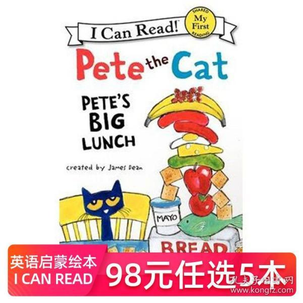 Pete the Cat: Pete's Big Lunch (My First I Can Read) 皮特猫的豪华午餐 英文原版