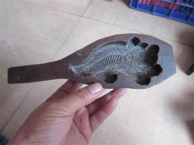 清代民国老模具老虎狮子月饼食品老印模饽饽卡子民俗手工雕刻精品
