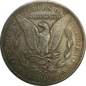 美国摩根元1883年银元银圆