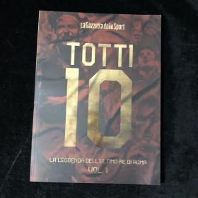 托蒂退役纪念画册 totti 罗马 意大利语原版